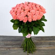 51 персиковая роза ↑=80 см